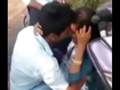Telugu girl and boy kissing in Forest